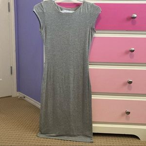 Velvet torch grey t-shirt dress